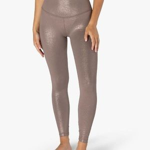 "Beyond Yoga CycleBar ""mocha rose gold"" leggings"